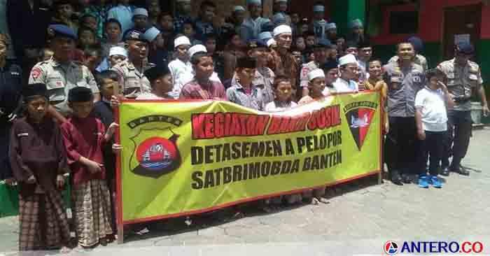 Brimob Banten Kirim Al Qur'an ke Ponpes Tahfidz Al Qur'an Ibnu Abbas